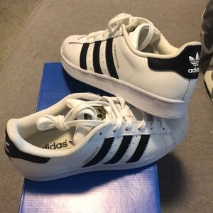 adidas Shoes - Women's adidas superstars black and white